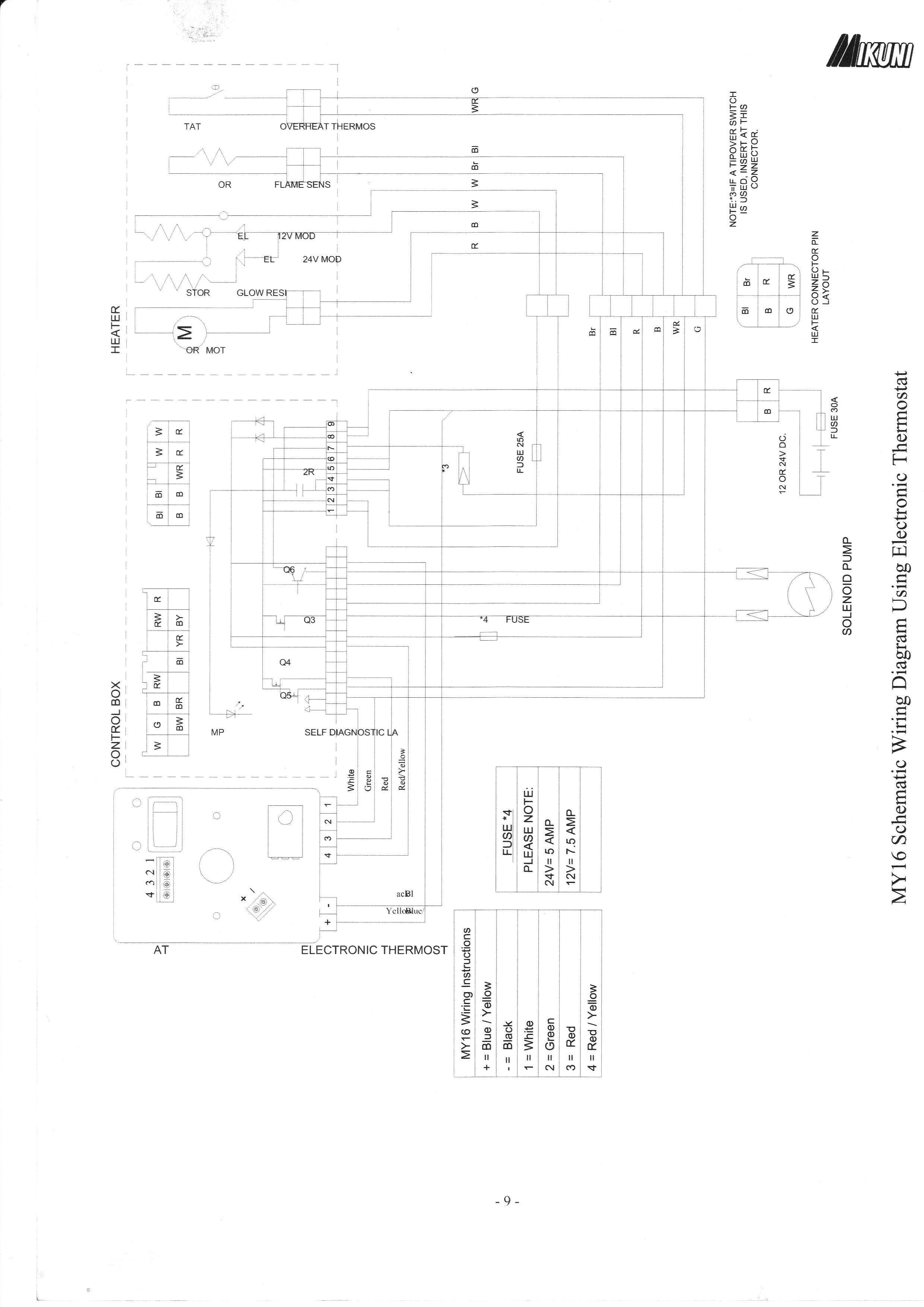 автономный стояночный отопитель схема